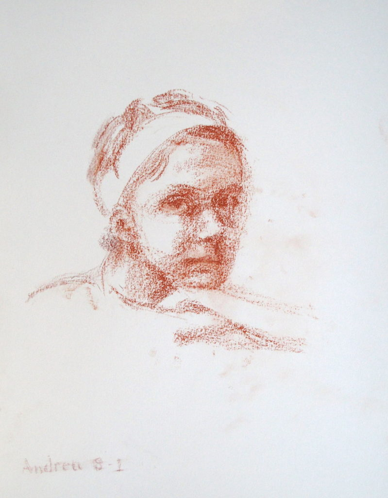 Andrea drawing © 2015 Peter Dickison