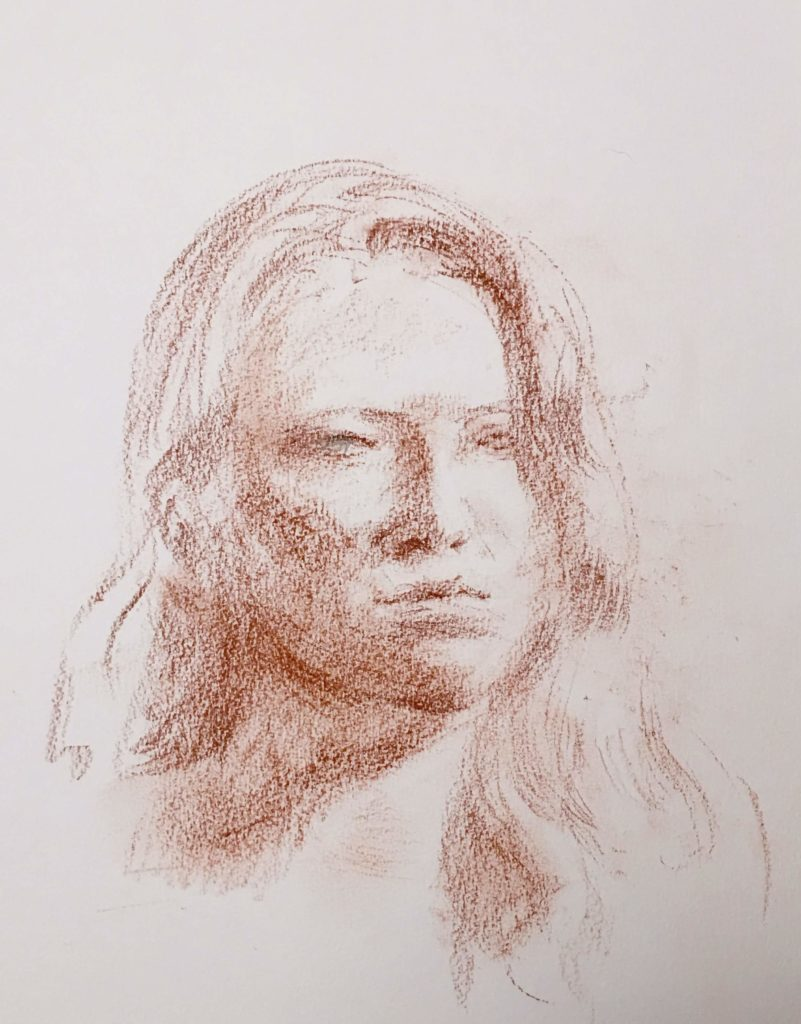 Portrait of Ivy drawing by Peter Dickison